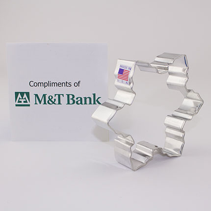 Custom-M and T Bank Cookie Cutter