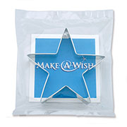 Custom Cookie Cutter - Make A Wish Star Bagged