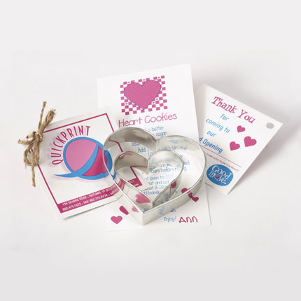 Custom Cookie Cutter Set - QuickPrint Hearts