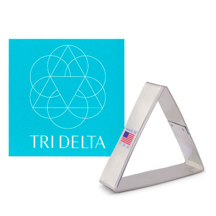 Custom-Tri Delta Cookie Cutter