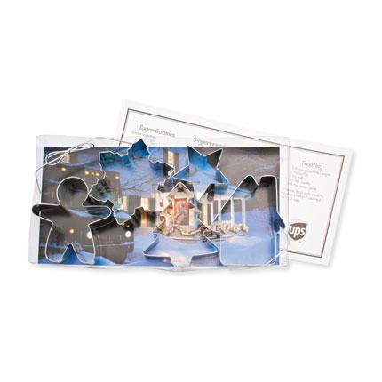 Custom Cookie Cutter Set - UPS Christmas