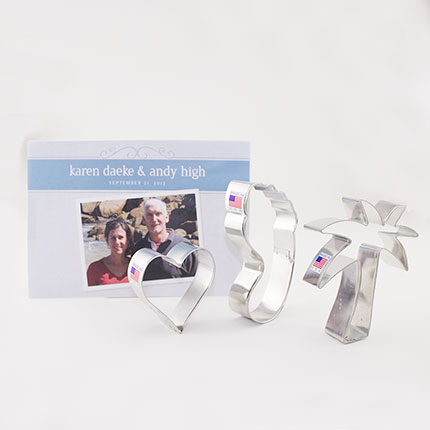 Custom-Wedding Karen Andy Cookie Cutter