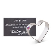 Custom-Wedding Cookie Cutter-Shelby & Joe