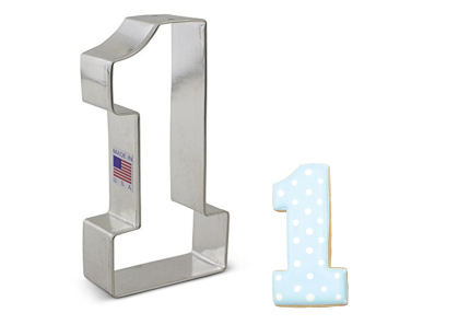 Large Number 1 Cookie Cutter