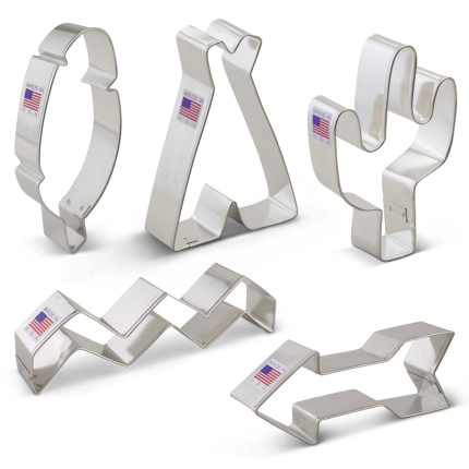 Tribal 5 pc Cookie Cutter Set