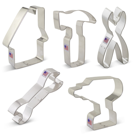 Tool/Construction Cookie Cutters 5 pc Set