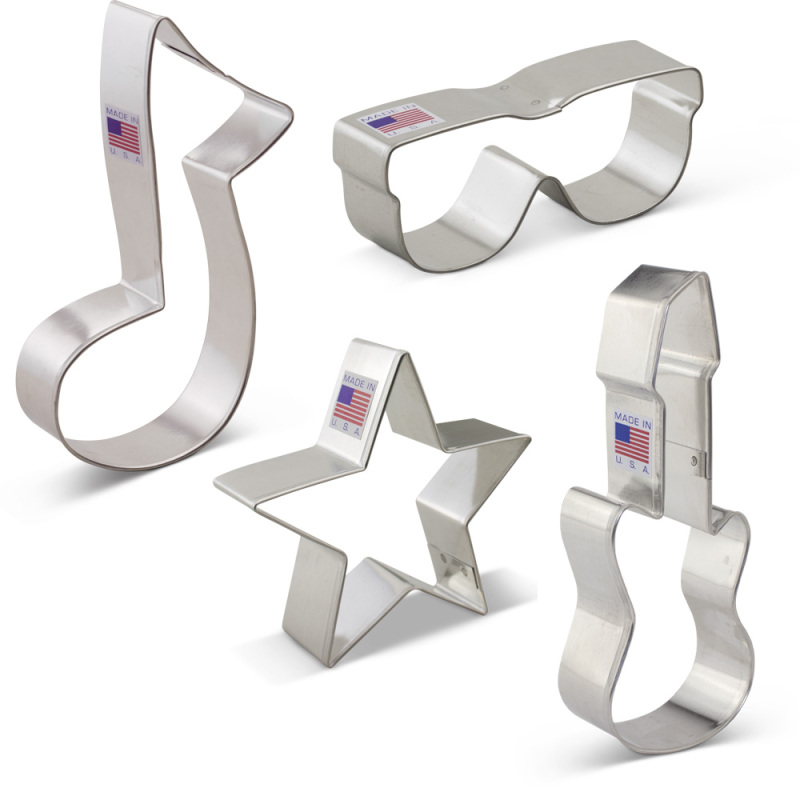 Rock Star Cookie Cutter 4 pc Set