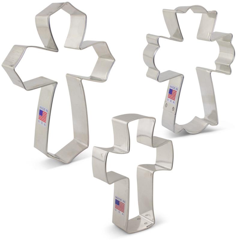 Cross Cookie Cutter 3 Pc Set