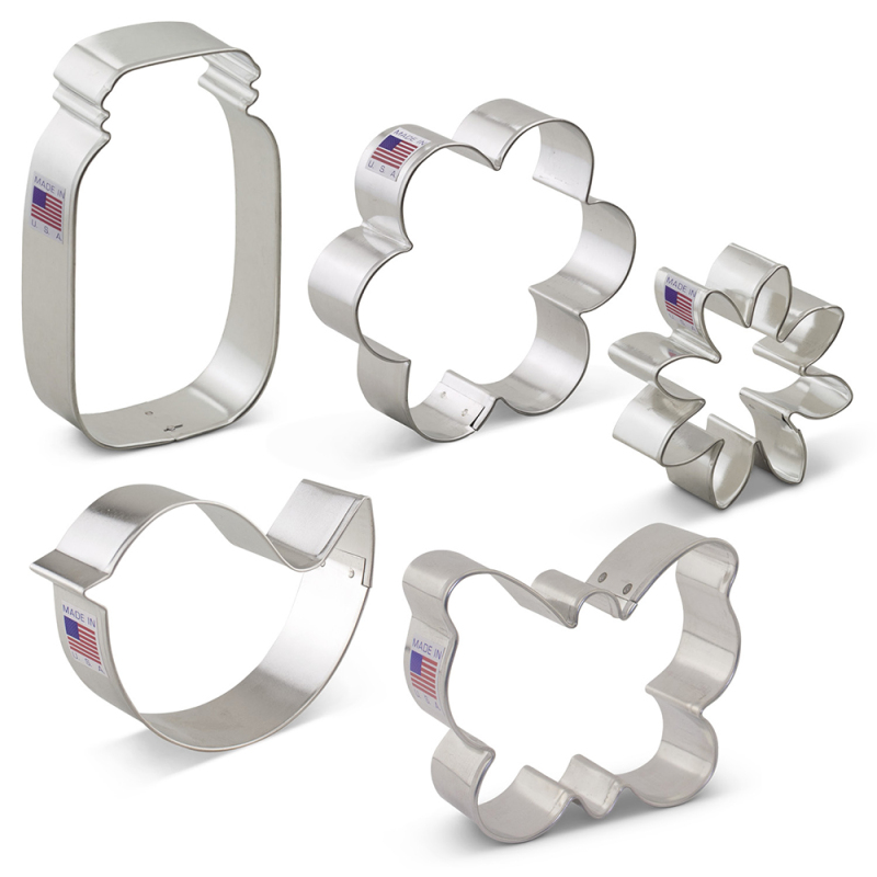 Flower Garden Cookie Cutter 5 Pc Set