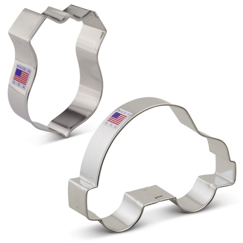 Police Cookie Cutter 2 pc Set