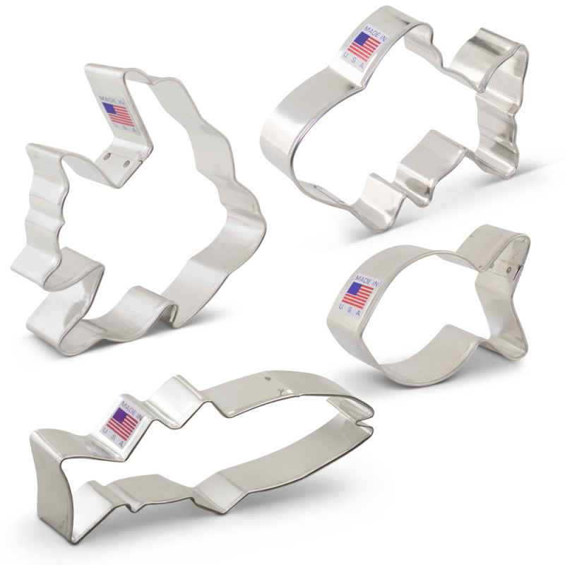 Fish Cookie Cutter 4 Pc Set