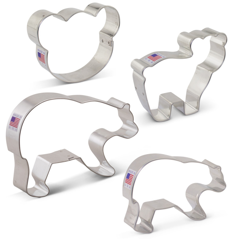 Bear Cookie Cutter 4 Pc Set