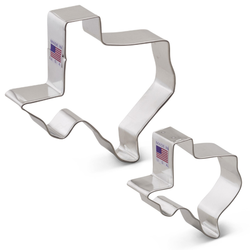 Texas State Cookie Cutter 2 pc Set