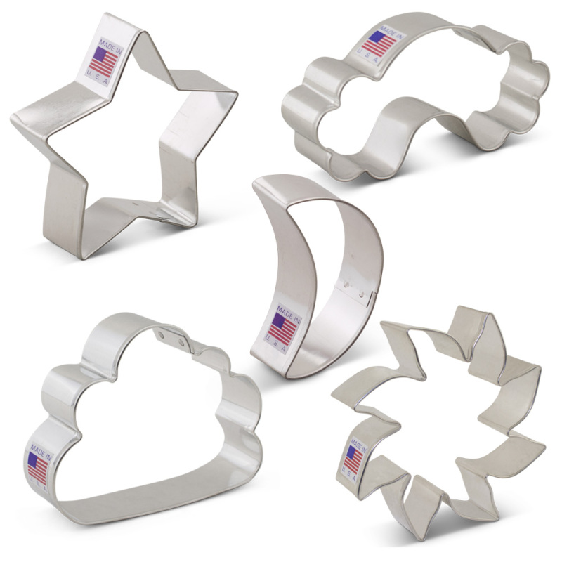 Day and Night Sky Cookie Cutter 5 pc Set
