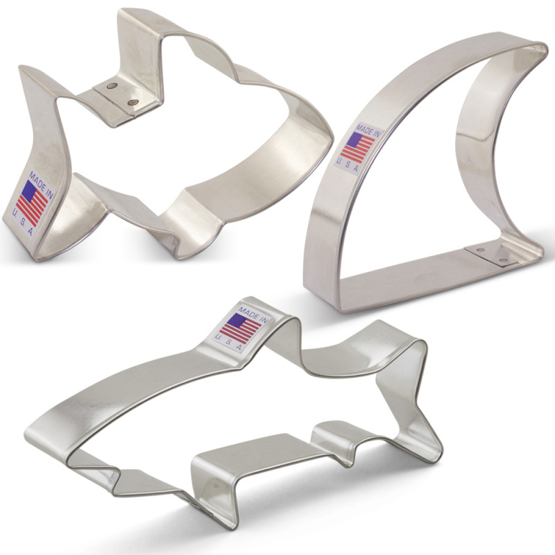 Shark Cookie Cutter 3 pc Set
