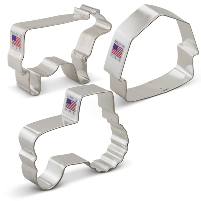Country Farm Cookie Cutter 3 pc Set