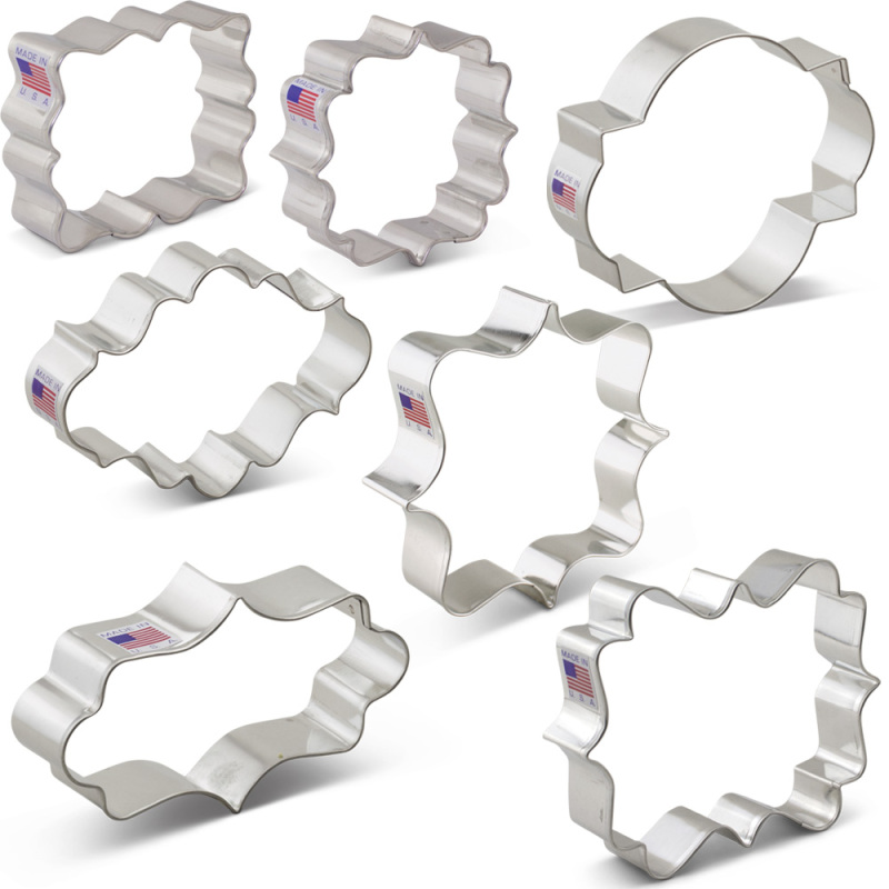 Plaques and Frames Cookie Cutters 7 pc Set