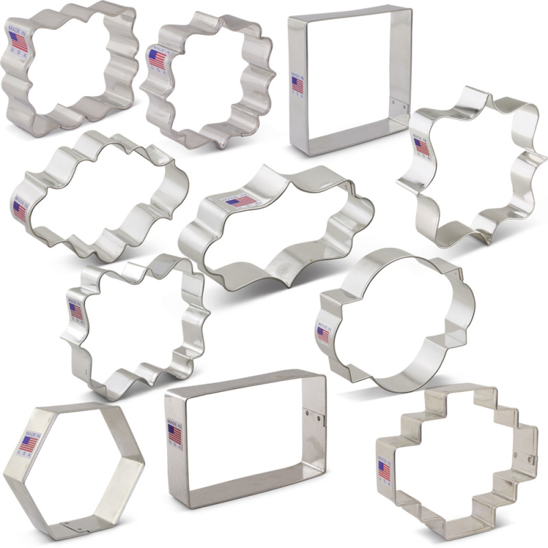 Plaques Frames and Tiles Cookie Cutter 11 pc Set