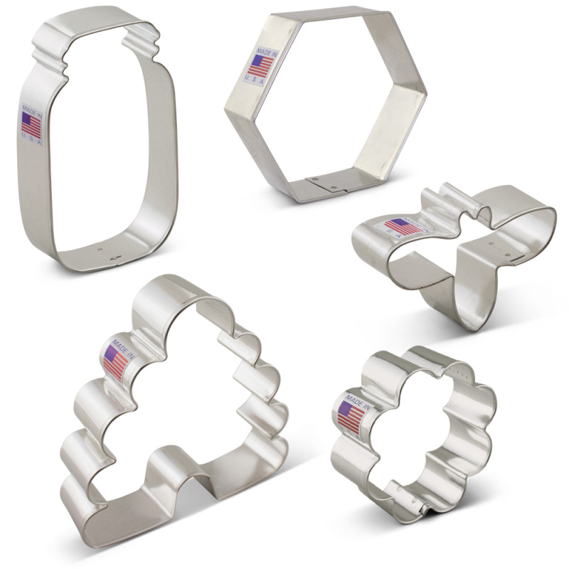 Bee Cookie Cutter 5 pc Set