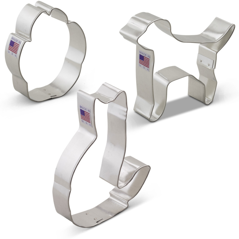 Pets Cookie Cutters 3 pc Set