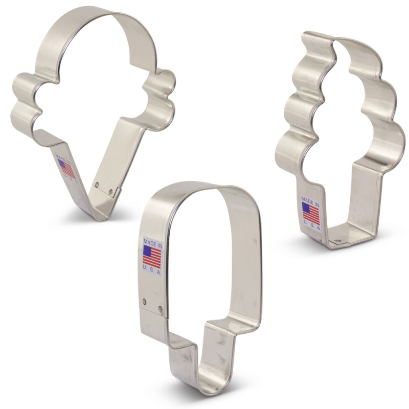 Ice Cream Cookie Cutter 3 pc Set