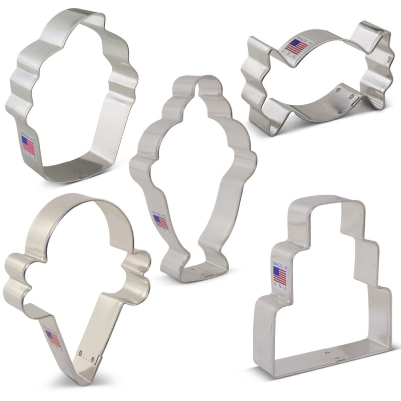 Candy and Sweets Cookie Cutter 5 pc Set