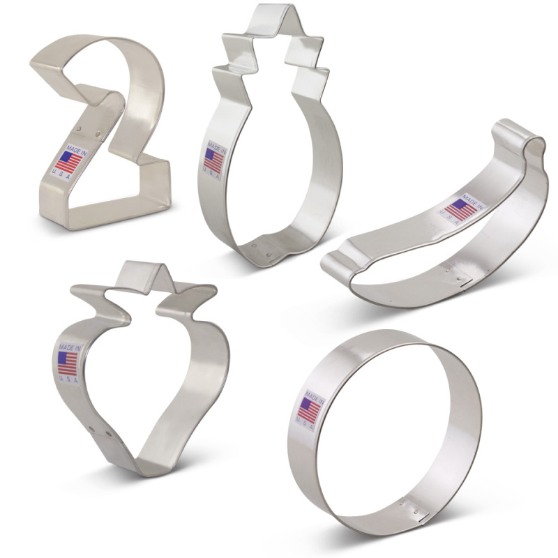 Twotti Fruitti Cookie Cutter 5 pc Set