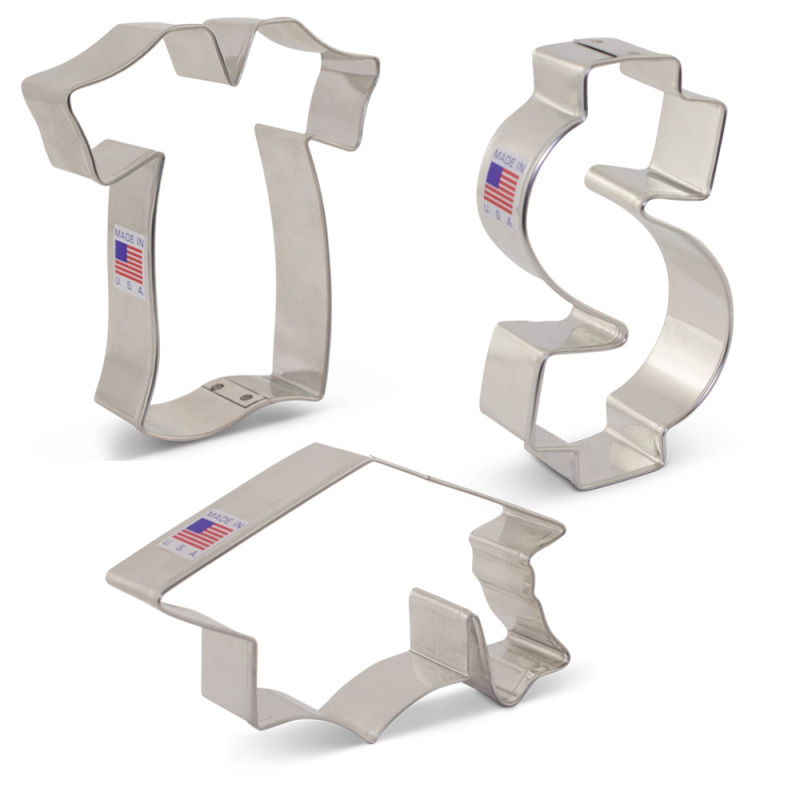 Graduation / New Job Cookie Cutter 3 pc Set