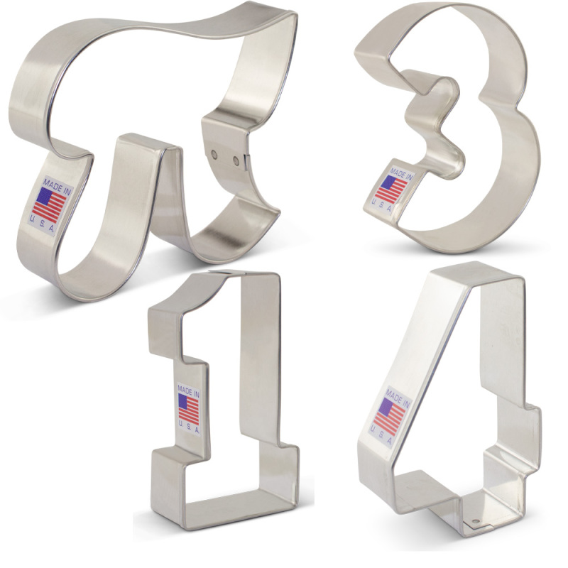 Mathematical Pi / Infinity Cookie Cutter 4 pc Set