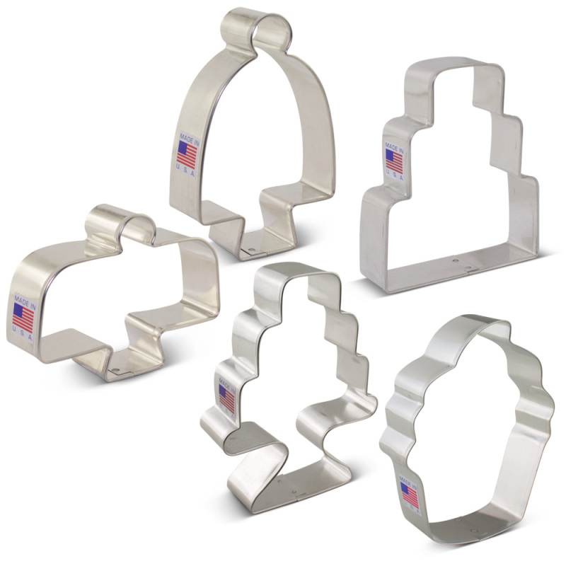 Bake Me a Cake Cooke Cutter 5 pc Set