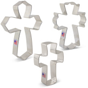 Cross Cookie Cutter 3 Pc Set