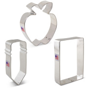Back to School Cookie Cutter 3 Pc Set