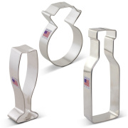 Wedding / Engagement Cookie Cutter 3 pc Set