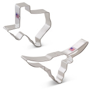 Texas Longhorn Cookie Cutter 2 pc Set