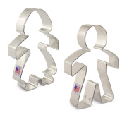 Paper Chain People Cookie Cutter 2 pc Set