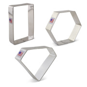 Geometric Shapes Cookie Cutter 3 pc Set
