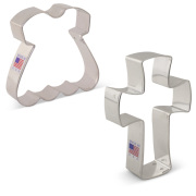 Religious Baptism Cookie Cutter 2 pc Set