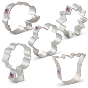 Flower Bouquet Cookie Cutter 5 pc Set
