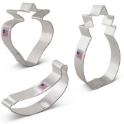 Fruit Cookie Cutters 3 pc Set