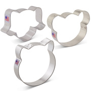 Animal Faces Cookie Cutter 3 pc Set