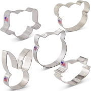 Animal Faces Cookie Cutter 5 pc Set