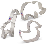 Baby Shower Animals Cookie Cutters 3 pc Set