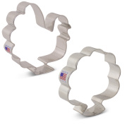 Thanksgiving Turkey Cookie Cutter 2 pc Set