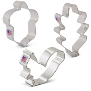 Fall Forest Cookie Cutter 3 pc Set