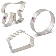 Pie / Pi Cookie Cutter 3 pc Set