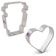 Love You a Latte Cookie Cutter 2 pc Set