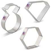 Gems and Jewels Cookie Cutter 3 pc Set