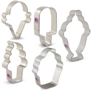 Ice Cream and Sweets Cookie Cutter 5 pc Set