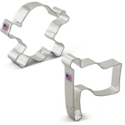 Pirate Jolly Roger Cookie Cutter 2 pc Set