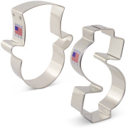 Bank Cookie Cutter 2 pc Set